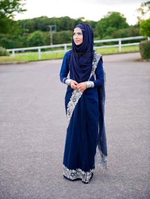 289 HAWA-Kombinasi Saree dan Hijab, Bisa Kok-5
