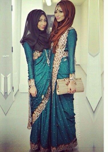 289 HAWA-Kombinasi Saree dan Hijab, Bisa Kok-7