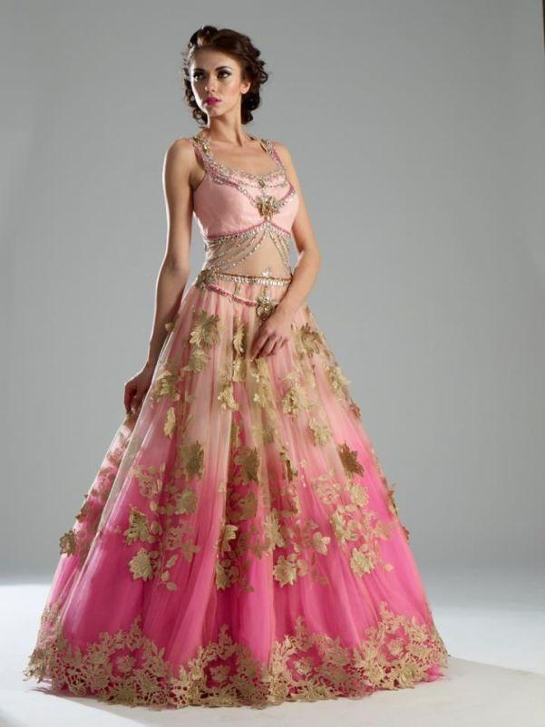 318 HAWA-Gaun Pernikahan India Mewah nan Glamour-4