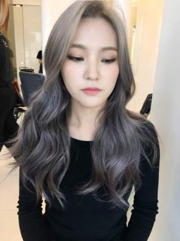 Lavender-Ash-Brown-hair-dye-color-2017-trending-popular-hair-color-dye-korea-korean-hairstyle-haircut